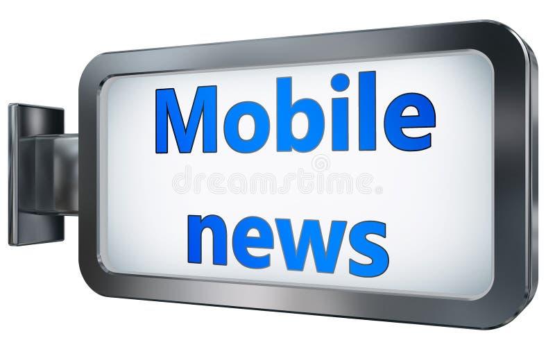 Notícia móvel no fundo do quadro de avisos ilustração stock