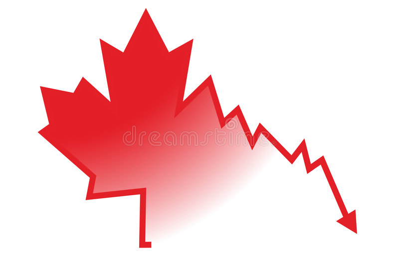 Notícia ruim para Canadá fotografia de stock