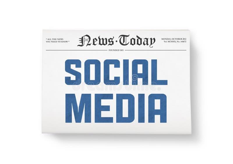 Notícia social dos media fotografia de stock