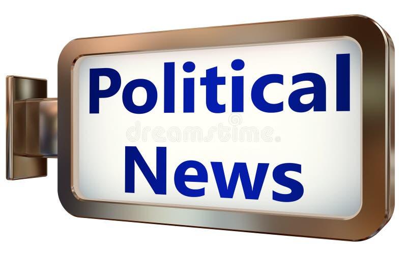 Notícias políticas no fundo do quadro de avisos ilustração stock