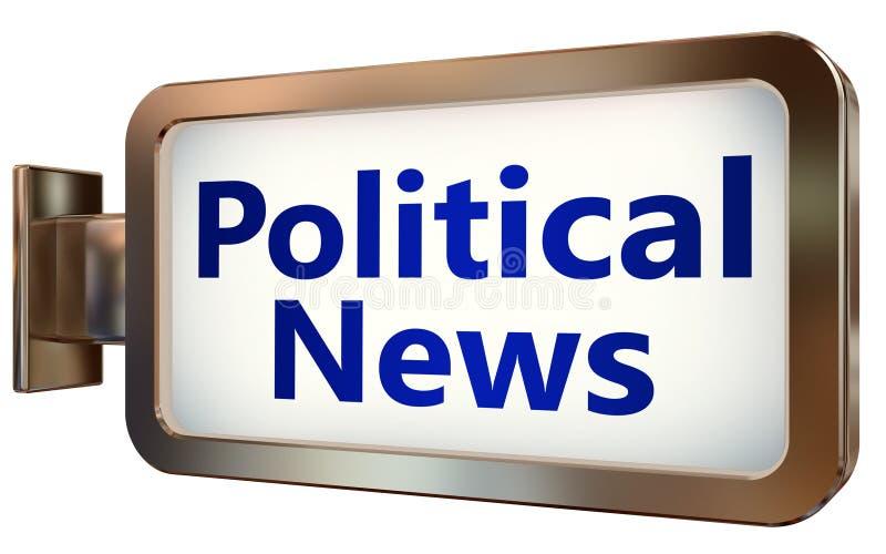 Notícias políticas no fundo do quadro de avisos ilustração royalty free