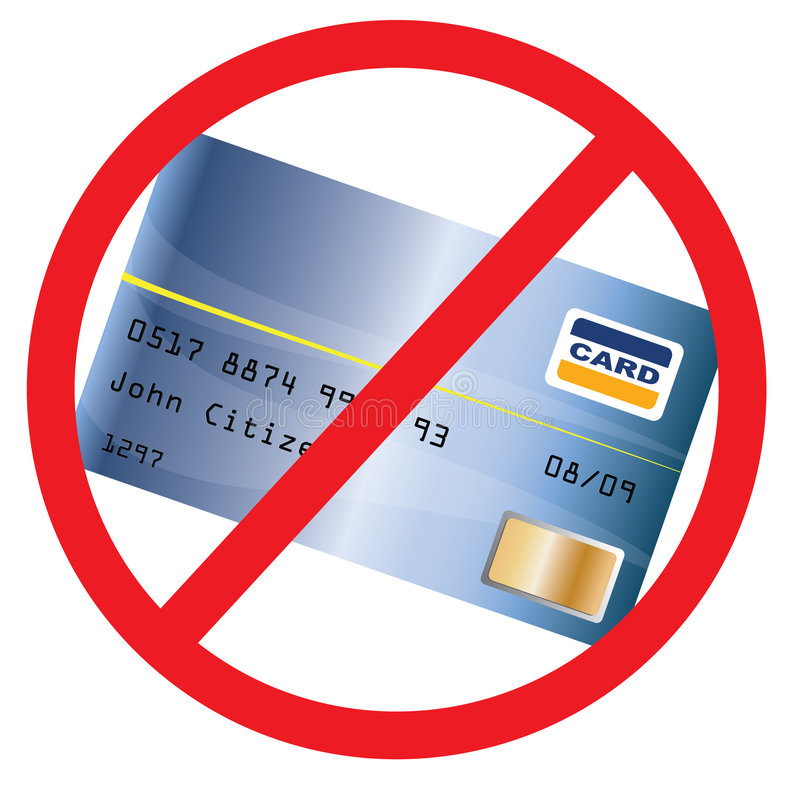 Download Not Accepted Creditcard stock illustration. Image of dollar - 6633382