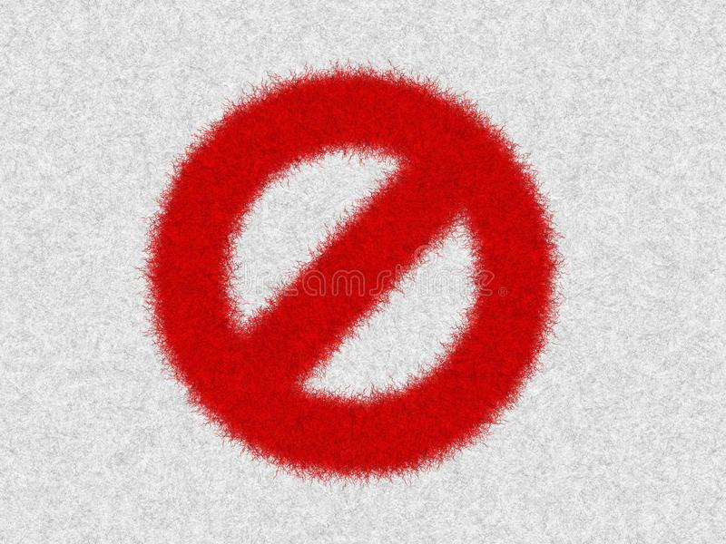 Not allowed sign, traffic or prohibition symbol icon isolated in white background. Caution for warning in dangerous situation. Not allowed sign, traffic or royalty free illustration