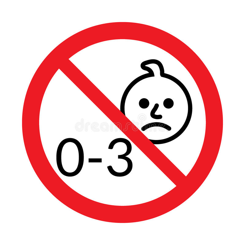 Not for children under 3 years of age icon vector illustration