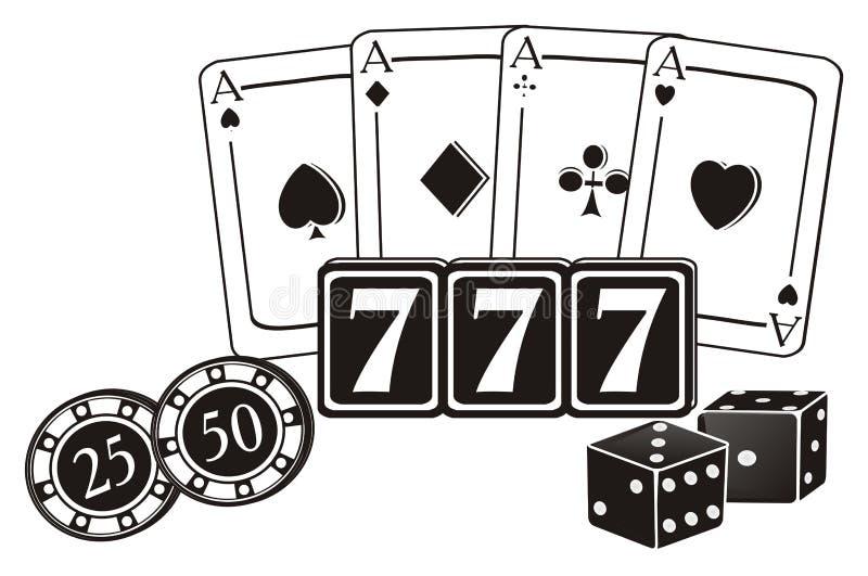 black and white casino art