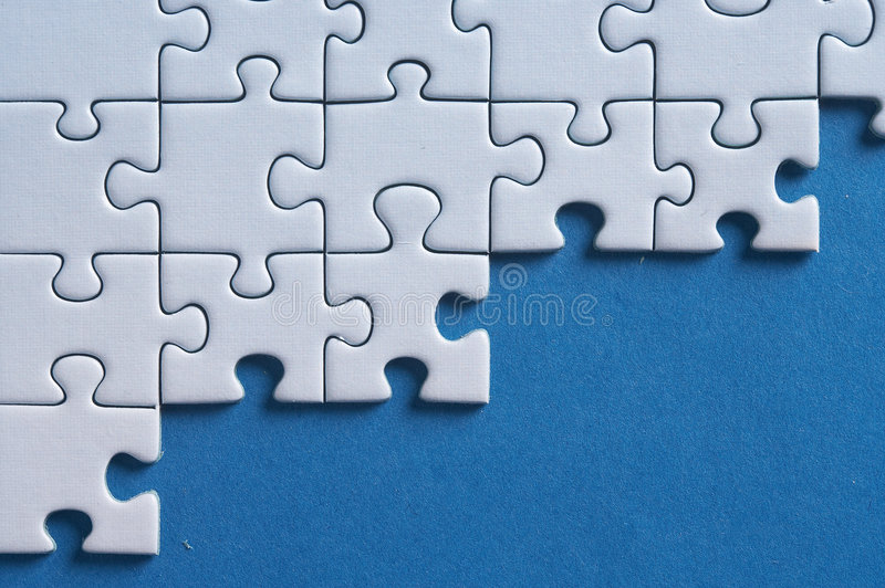 Not enough. Cantle of a incomplete puzzle- game stock images