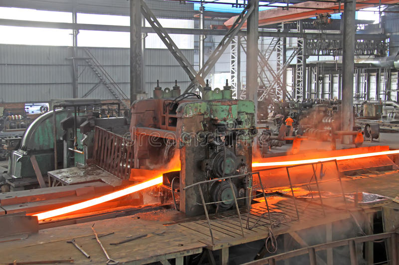 Download Not Equal Sides Angle Steel In A Production Line Stock Photos - Image: 28479593