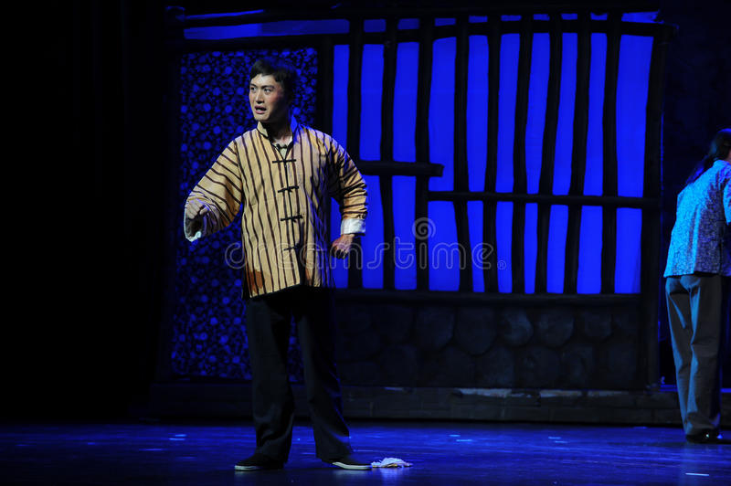 Not filial son- Jiangxi opera a steelyard. Jiangxi opera a steelyard is adapted from a true story: the last century fortys, the protagonists father runs an oil royalty free stock photography