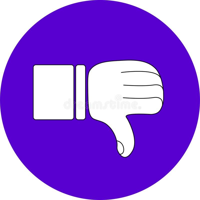 NOT GOOD THUMB ICON FOR WEB CONTENT EDUCATION CONTENT ENTERTAINMENT ICON OR SOCIAL MEDIA ICON stock photography