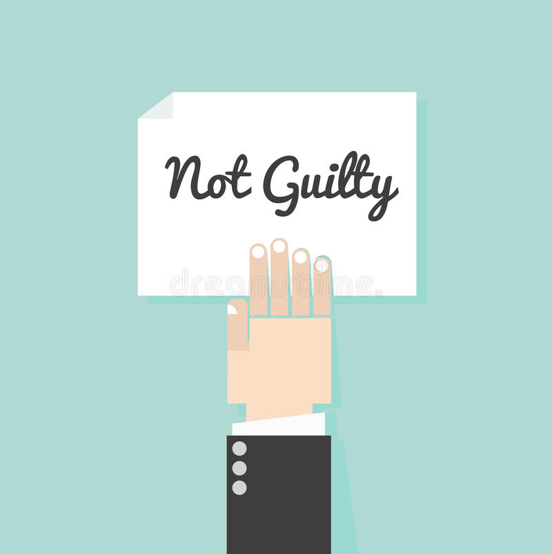 Not guilty law fairly conceptuals. Vector vector illustration