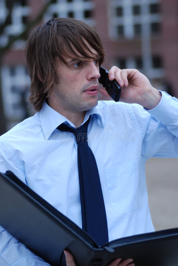 Download Not So Happy About This Call Stock Image - Image: 1913271