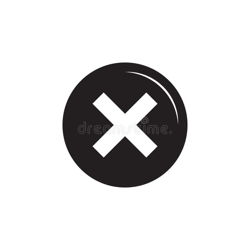 Not icon. On white background royalty free illustration