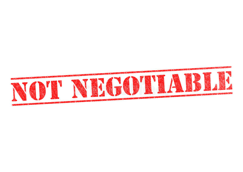 NOT NEGOTIABLE Stamp. NOT NEGOTIABLE rubber stamp over a white background stock illustration