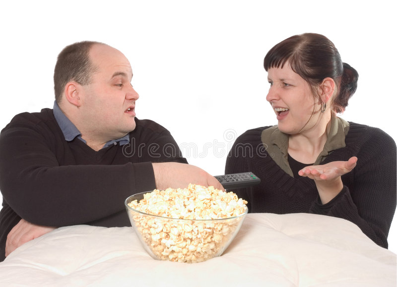 Not the perfect movie night royalty free stock images