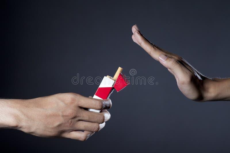 Not smoking, thanks stock images