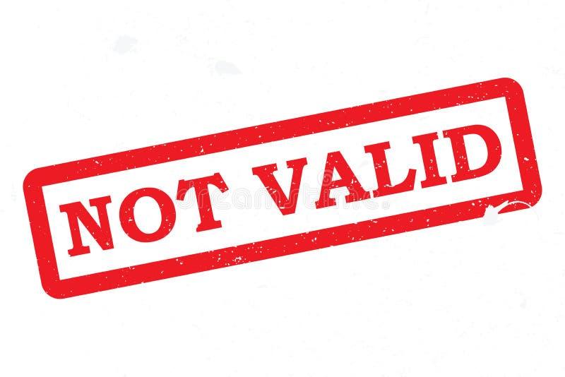 Not Valid vector illustration
