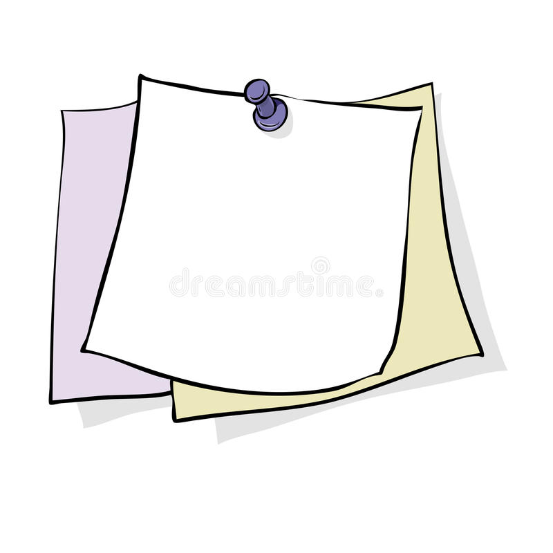 nota ilustração royalty free