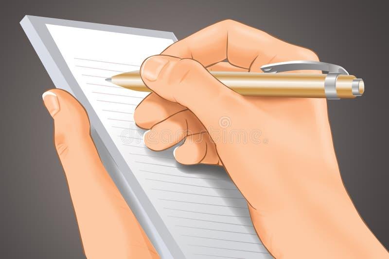 nota ilustração do vetor