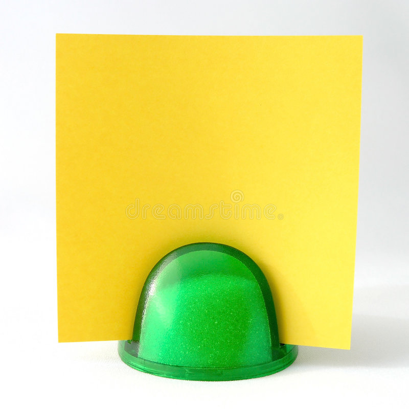 Nota amarilla imagen de archivo