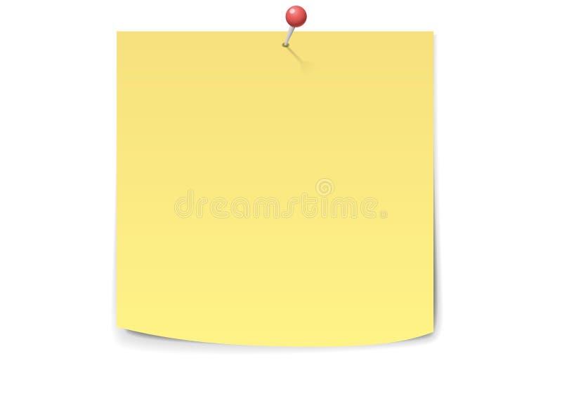 Nota amarilla del palillo libre illustration