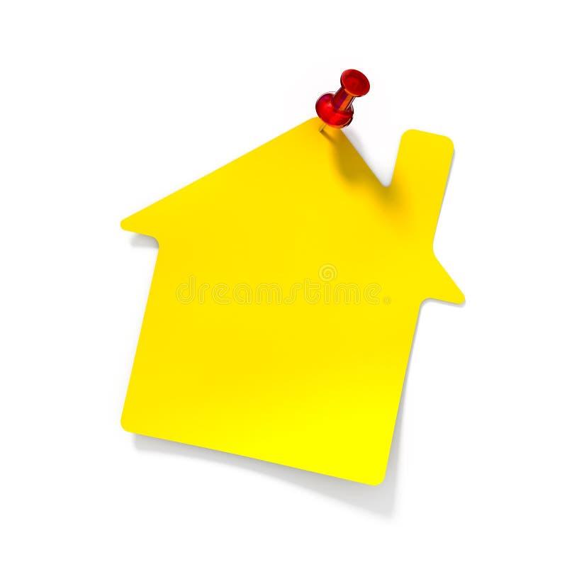 Nota amarilla del recordatorio ilustración del vector