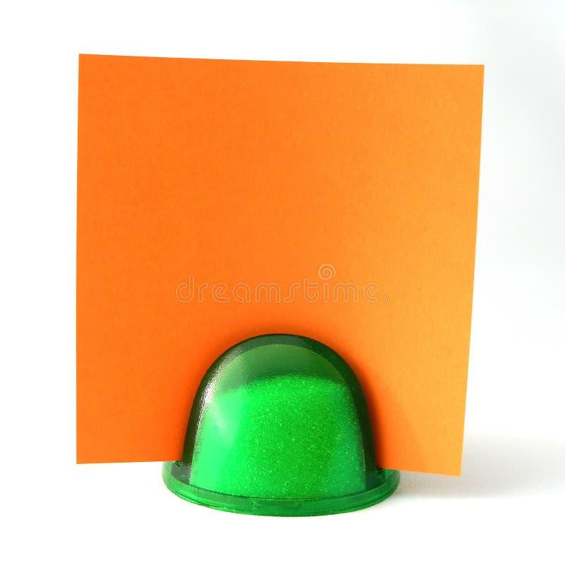 Nota arancione fotografie stock