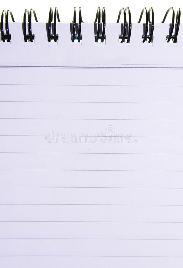 Nota blanca con la línea imágenes de archivo libres de regalías
