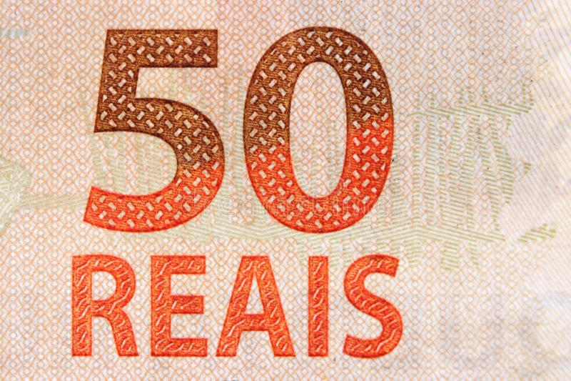 Nota brasileira da moeda imagem de stock royalty free