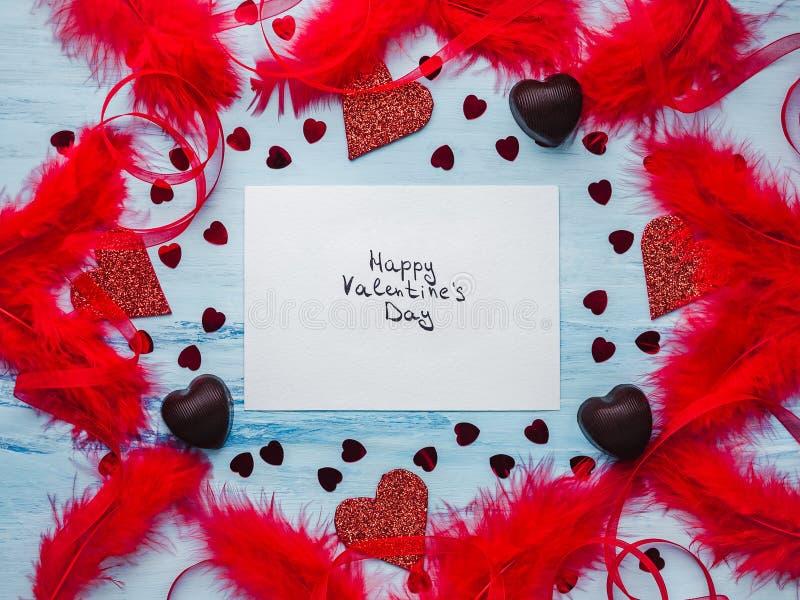 Nota com palavras doces do amor Configuração lisa fotos de stock