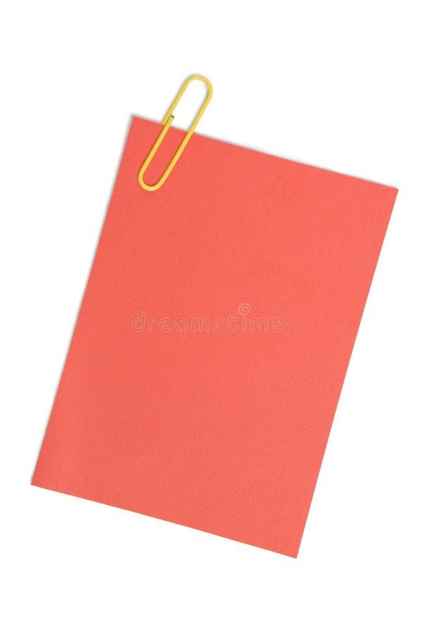 Nota com paper-clip fotos de stock