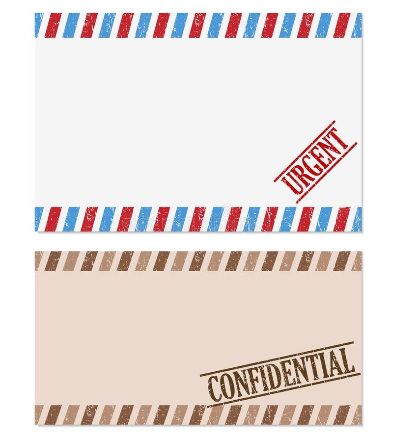Nota confidencial e urgente ilustração royalty free