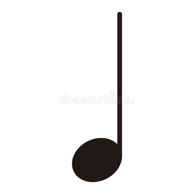 Nota Cuarta Aislada Nota Musical Ilustración del Vector ...