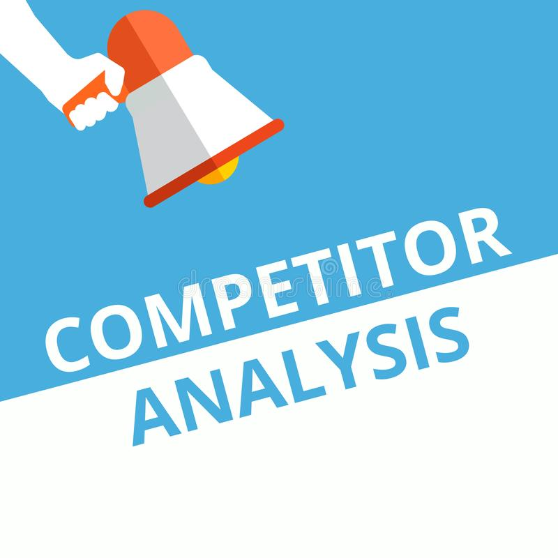 Nota da escrita que mostra a análise do concorrente ilustração royalty free