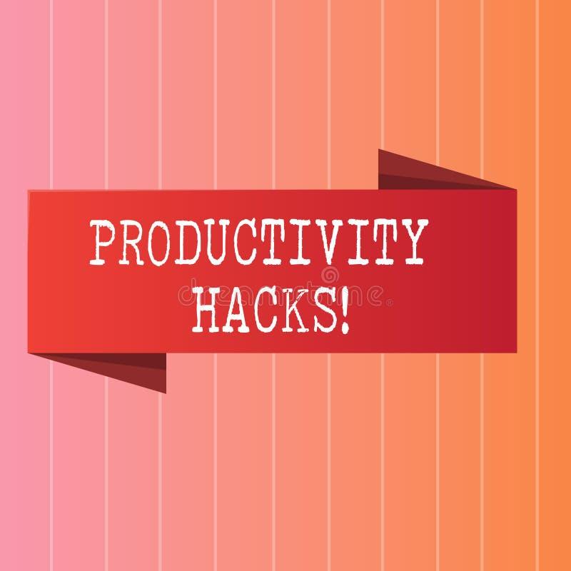 Nota da escrita que mostra cortes da produtividade A foto do negócio que apresenta cortando o método da solução derruba a produti ilustração do vetor