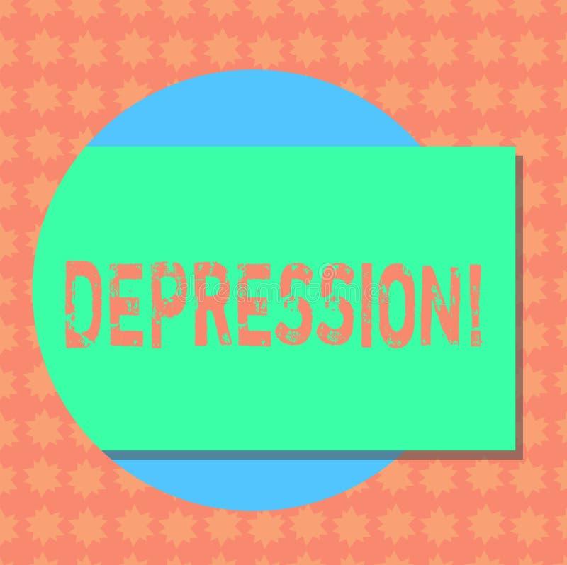 Nota da escrita que mostra a depressão Esforço de trabalho apresentando da foto do negócio com as noites sem sono que têm a pertu ilustração do vetor