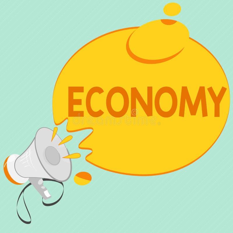 Nota da escrita que mostra a economia Gestão apresentando da foto do negócio da informação de contabilidade dos recursos financei ilustração royalty free