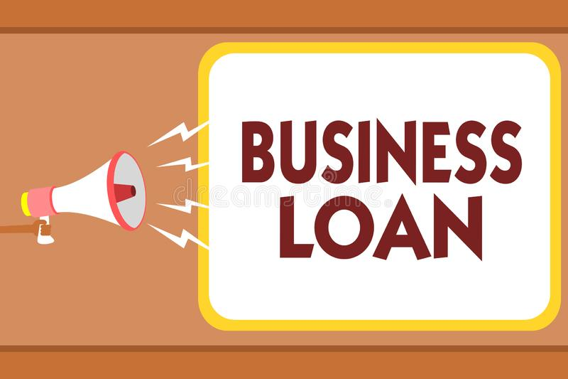 Nota da escrita que mostra o empréstimo comercial Débito apresentando dos dinheiros adiantados da ajuda econômica da hipoteca do  ilustração do vetor