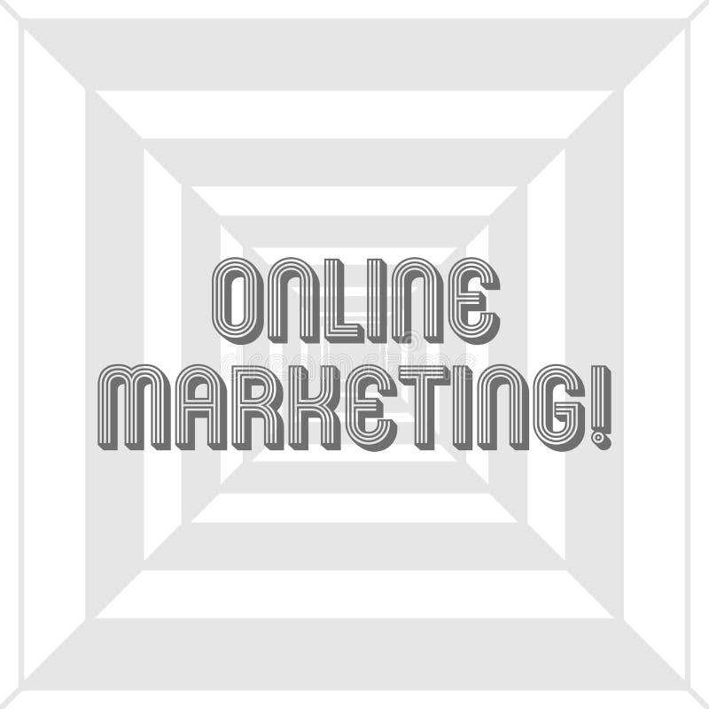 Nota da escrita que mostra o mercado em linha A Web leveraging apresentando da foto do neg?cio baseou os canais espalhados sobre  ilustração royalty free