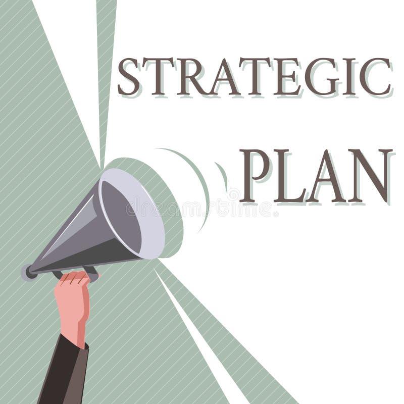 Nota da escrita que mostra o plano estratégico Foto do negócio que apresenta o processo de A de definir a estratégia e de fazer d fotos de stock