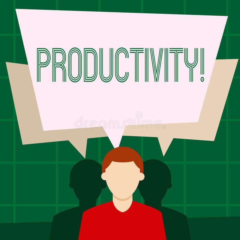 Nota da escrita que mostra a produtividade Foto do negócio que apresenta sucesso do perforanalysisce do trabalho eficaz o grande ilustração do vetor