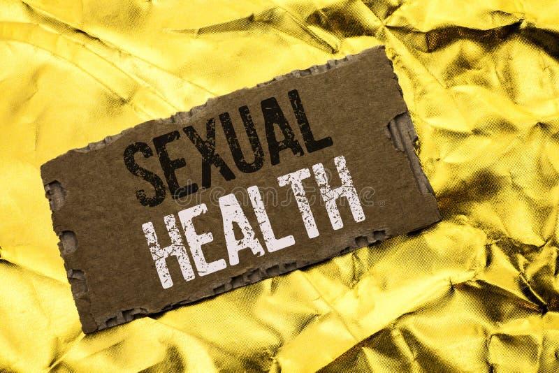 Nota da escrita que mostra a saúde sexual Foto do negócio que apresenta o cuidado saudável do sexo dos hábitos da proteção do uso fotos de stock royalty free