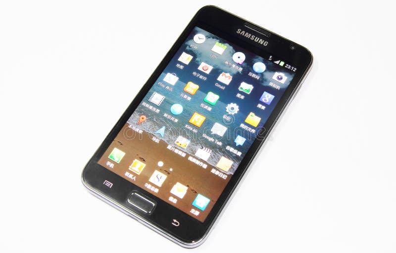 Nota da galáxia de Samsung imagens de stock