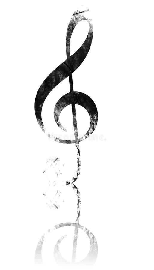 Nota da música ilustração stock