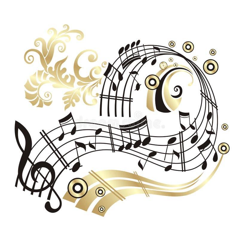 Nota da música. ilustração stock