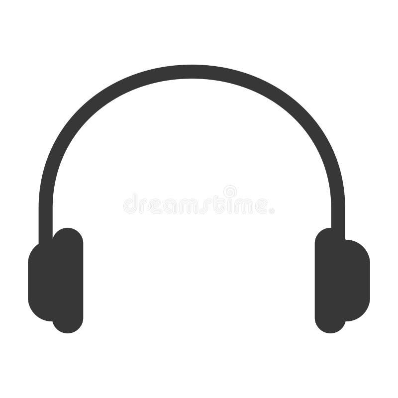 Nota da música em preto e branco ilustração stock