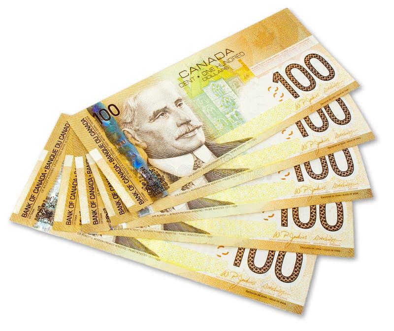 Nota de banco canadense fotos de stock royalty free