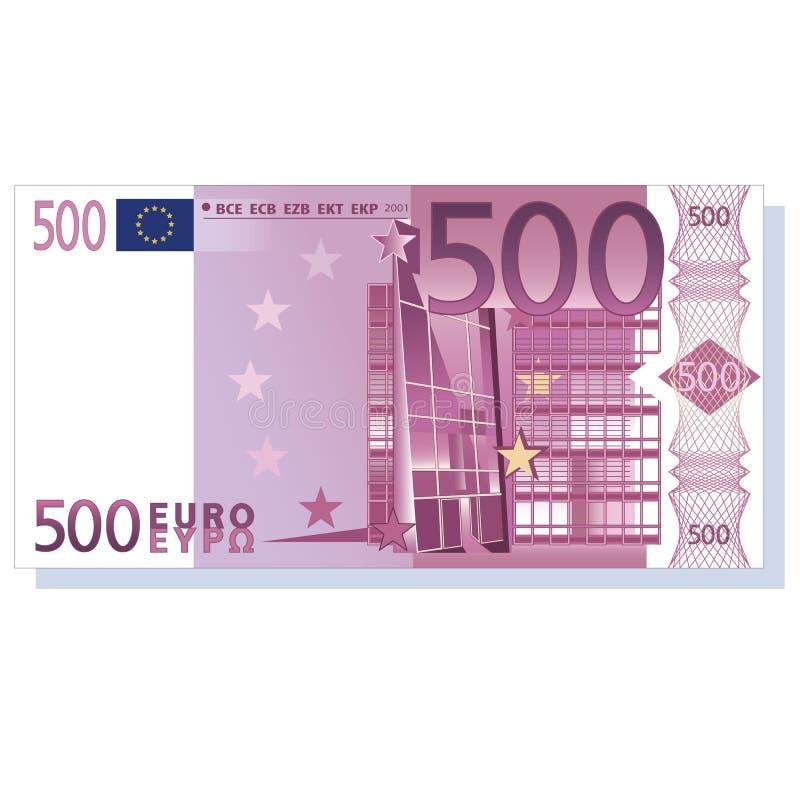 nota de banco do euro 500 ilustração stock