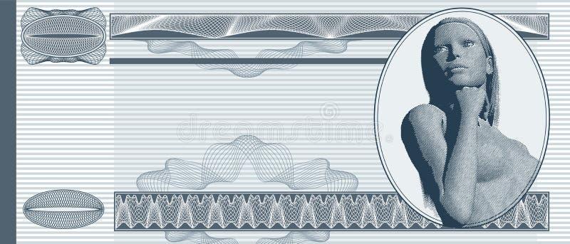 Nota de banco em branco ilustração do vetor