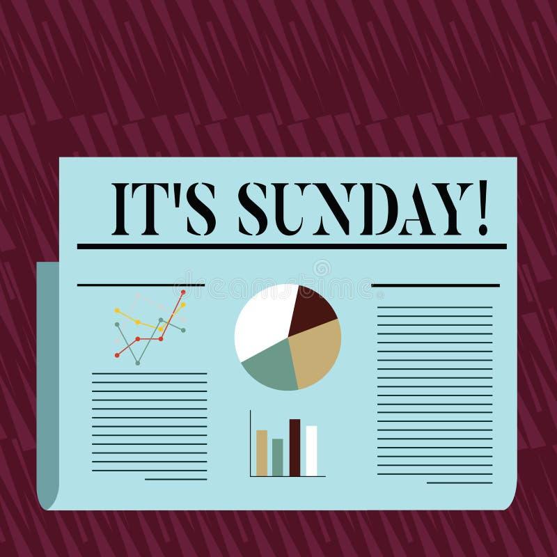 Nota de la escritura que le muestra S domingo Día de exhibición de la foto del negocio de semana entre el resto de sábado y de lu ilustración del vector