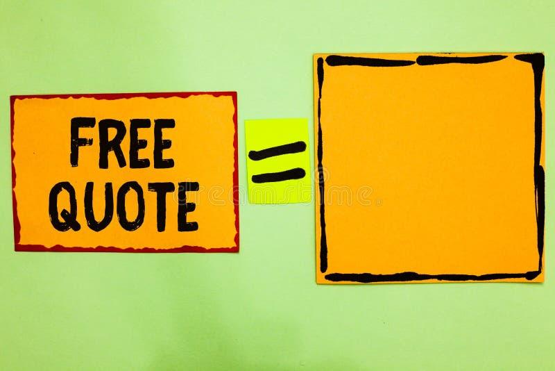 Nota de la escritura que muestra cita libre La foto del negocio que muestra la breve frase de A que es tiene generalmente mensaje imagenes de archivo